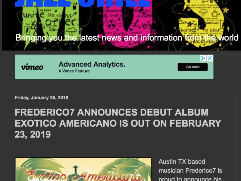 Jazz Chill Announces Frederico7's Debut Exótico Americano