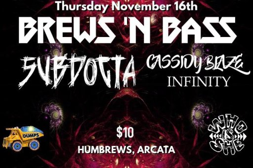 Who Is She Productions Presents: BREWS N' BASS