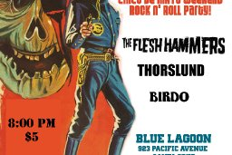 Blue Lagoon show flyer
